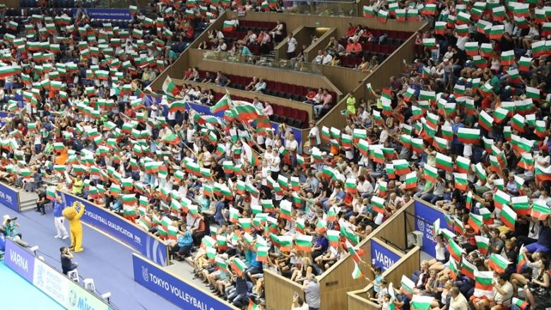 Пълна зала и мощна подкрепа за решителната битка с Бразилия