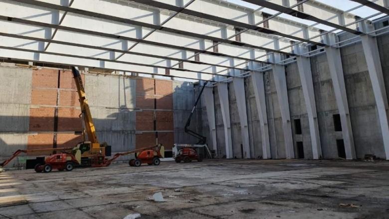 До месец поставят покрива на столичната зала София Парк