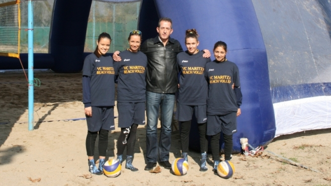 Марица откри корт за плажен волейбол и през зимата!