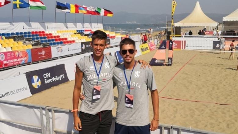 Оспорвани битки за българите на старта на европейското по плажен волейбол U18