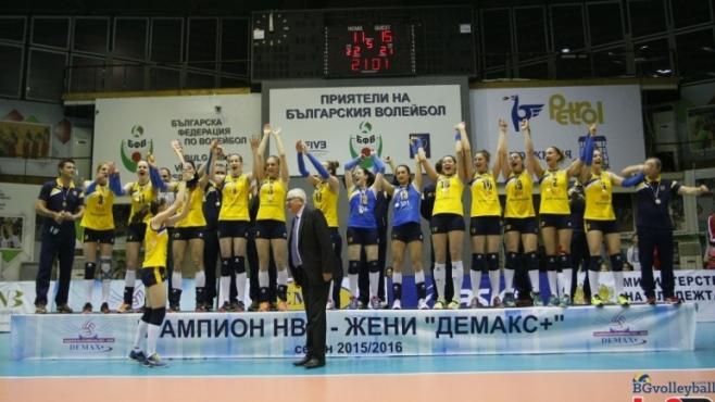 Всички волейболни шампиони на България при жените