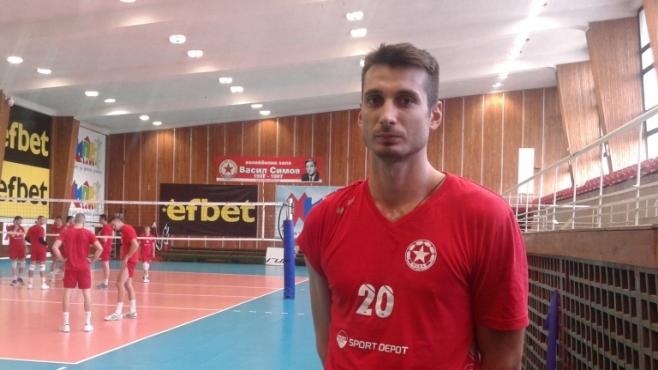 Венцислав Георгиев: Няма притеснение преди мача с Белогорие