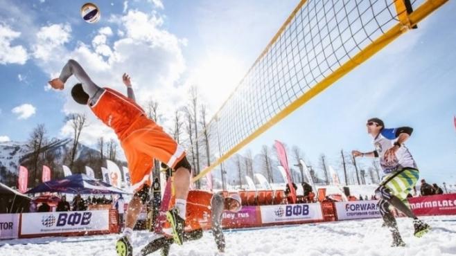 Снежният волейбол завладява и Гърция