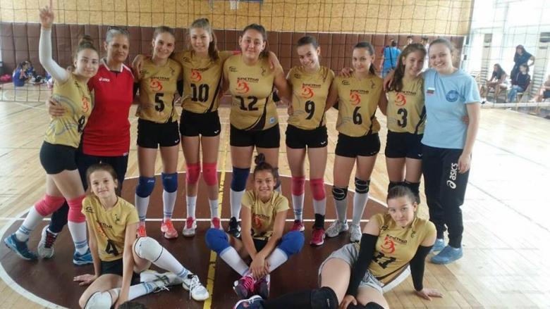 Волейболистките на Видин спечелиха титлата за момичета U13