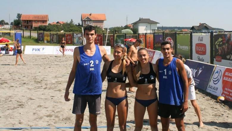 Сребро и бронз за българските двойки на Балканиадата U20