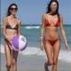 Красота и плажен волейбол на пясъка в Маями