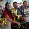 Национален отбор по волейбол, жени, посрещане след спечелването на Златната европейска лига, летище София, снимки: LAP.