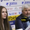 15-02-2018, Селекционерът Стоян Гунчев на България U17 и капитанката Мария Йорданова преди Европейското първенство 2018